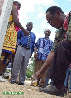 Libation at the annual 'Day of the Maroons'-delebration (photo courtesy Waterkant.net)